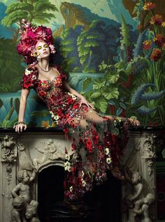 New fashion editorial red dolce & gabbana Ideas Source by dresses glamour Floral Fashion, New Fashion, Trendy Fashion, Fashion Design, Fashion Dresses, Stunning Dresses, Nice Dresses, Moda Floral, Fairytale Fashion