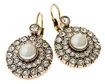 Swarovski Crystal & Pearl Miss Dunn ETRUSCAN earrings #LDdesigns  #LannahDunn #Eternityrings #vintageromance #Toowoombaweddings #brisbaneweddings #sydneyweddings #bridetobeloves #bridetobe