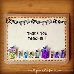 Handmade Cards For Teachers Day. Happy Teachers Day Card Handmade Cards For Teachers Day. Handmade Teachers Day Cards, Teachers Day Card Design, Greeting Cards For Teachers, Teachers Day Greetings, Teacher Thank You Cards, Teacher Birthday Card, Kids Birthday Cards, Handmade Birthday Cards, Birthday Messages