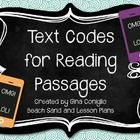 I use these text codes for my weekly reading homework. Students work with one reading passage all week coding text, highlighting vocabulary, illust...