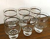 Vintage MADMEN bar glasses by EverydayVintageWares on Etsy, $24.50 AUD