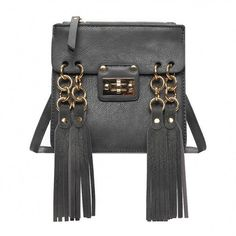 Yoins Yoins Fringe Shoulder Bag (37 AUD) ❤ liked on Polyvore featuring bags, handbags, shoulder bags, grey, man shoulder bag, grey purse, fringe shoulder bag, gray handbags and gray handbags shoulder bag