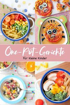 """Mein Kinder-Kochbuch """"One-Pot-Gerichte für kleine Kinder"""" One-pot dishes for little kids – the children's cookbook by Steffi Sinzenich with many quick one-pot recipes that will … One Pot Dishes, One Pot Meals, Kids Meals, Healthy Drinks, Healthy Dinner Recipes, Breakfast Recipes, Healthy Snacks, One Pot Pasta, Homemade Baby Foods"""
