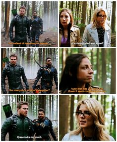 "#Arrow 5x23 ""Lian Yu"" - Oliver, Slade, Felicity and Samantha"