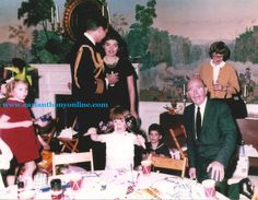 Mrs. Kennedy at the birthday party she held for her son on the day of his father's funeral.