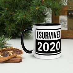 Survived 2020 Mug-Humor-Survival-Gift for Everyone- Pandemic-Trump- Biden-Covid #survival #BadYear #divorce #gift #mug #elections #Trump #survived #2020 #biden Fun Christmas Party Ideas, Christmas Gifts For Mom, Christmas Mugs, Personalized Travel Mugs, Personalized Christmas Gifts, Nana Gifts, Gifts For Coworkers, Funny Coffee Mugs, Funny Mugs