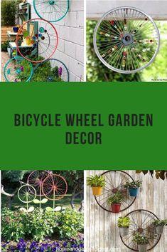 Bicycle Spokes, Bicycle Rims, Bicycle Decor, Bicycle Wheel, Bicycle Parts, Bike Wheels, Garden Crafts, Garden Art, Garden Mosaics