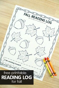 Free Printable Reading Log for Fall. Kids love working toward fun incentives and reading goals. Use these free printable fall reading logs for kids to help kids and parents track their reading. Reading Logs, Reading Workshop, Kids Reading, Guided Reading, Reading Lessons, Reading Groups, Preschool Reading Activities, Autumn Activities For Kids, Preschool Kindergarten