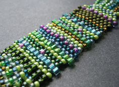 The Flat and Freeform Brick Stitch Technique is a must learn for jewelry makers. There are many free beading patterns and this is the best basic pattern to learn.