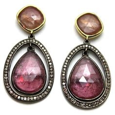 Multi Color Rose Cut SapphireBrown Diamond by CobyMadisonJewelry, $375.00