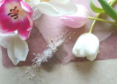Frosted Bluebell Hair Comb