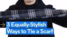 3 Equally-Stylish Ways to Tie a Scarf - 3 Stylish Ways for Dudes to Tie Their Scarves - Stylish Men, Men Casual, Budget Fashion, Men's Fashion, Urban Fashion, Fashion Ideas, Fashion Inspiration, Le Male, Latest Mens Fashion
