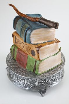HP cake.. i have to say this cake is really cool :).. shout out to all my harry potter friends