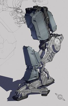 Mech Leg by ~MeckanicalMind on deviantART