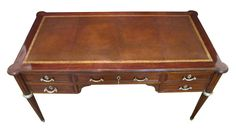 A French Louis XVI Style Mahogany Writing Desk with Ormolu Mounts ...