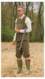Can't get enough of the English hunting apparel.