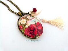 Collar-colgante con camafeo - Florecer de La Tienda Vintage de Kima por DaWanda.com