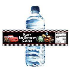 Cars Birthday Party Water Bottle Wrapper Party by PartiesR4Fun, $7.00