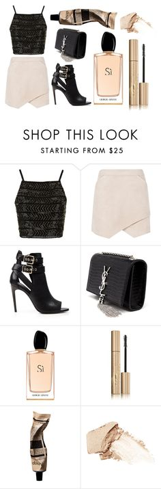 """""""Untitled #101"""" by rodoulla97 on Polyvore featuring Topshop, BCBGMAXAZRIA, Burberry, Yves Saint Laurent, Giorgio Armani, Stila, Aesop, NARS Cosmetics, women's clothing and women's fashion"""