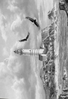 Greyscale Coloring, Coloring For Adults Greyscale, Coloring Not, Lighthouse, Coloring Landscapes, Coloring Books, Printable Coloring, Adult Coloring Pages