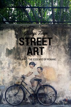 A visit to Penang won't be complete without visiting its numerous street art. Here is the George Town street art I encountered during my brief stay. Building Photography, Street Art Photography, George Town Penang, Illusion, World Street, Amazing Street Art, Asia Travel, Travel Tips, Popular Art