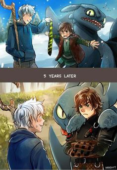 Drawn by Kadeart0 ... Rise of the Guardians, Jack Frost, How to train your dragon, toothless, hiccup, night fury, dragon, viking