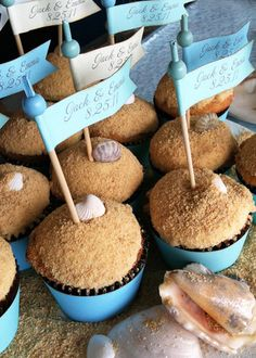 graham cracker topping on cupcake - looks like sand