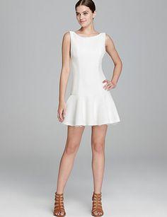 ALICE + OLIVIA Kaya Lace Trim Dress