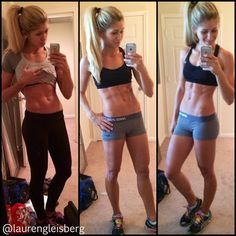 See results in just 1 week of clean eating & workouts! FITNESS BARBIE LAUREN GLEISBERG blog for daily workouts, healthy recipes, motivation, and more!