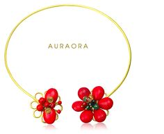 Red Flower Necklace. I hope you like it.  It will look elegant on you!