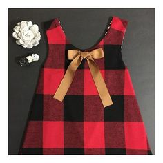 Junebug Tennessee Memories of last years Fall plaid pinafores ❤️ Can't go wrong with a little lumberjack plaid