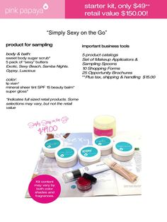 Simply Sexy On The Go Kit $49