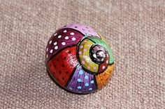 Seashell Painting, Seashell Art, Seashell Crafts, Pebble Painting, Dot Painting, Pebble Art, Stone Painting, Snail Art, Snail Shell