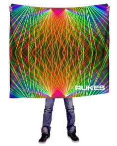 RUKES Rainbow Lasers Blanket
