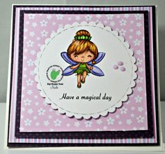 """I hope that everyone is having a magical day! I'm here with a very magical creation for Craftin Desert Diva's using the adorable """"Magical Day"""" Digital Stamp! You can find more details on my blog: http://papercraftycreations.blogspot.com/2017/02/magical-day.html BUY STAMP HERE: http://craftindesertdivas.com/magical-day-digital-stamp/?aff=49 BUY DIES HERE: http://craftindesertdivas.com/stitched-in-circle-dies/?aff=49"""