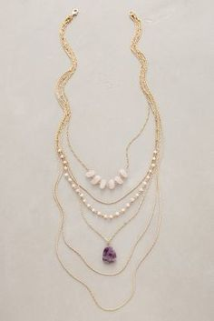 Anthropologie Violett Layer Necklace