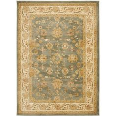 Safavieh Oushak Blue/ Cream Powerloomed Rug (9'6 x 13')   Overstock.com Shopping - The Best Deals on 7x9 - 10x14 Rugs