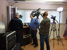 Great to have Bob and Nick from the TX-Factor filiming here at Icom UK today #icom #hamradio