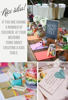 How About A Children's Table At Your Wedding