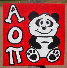 Alpha Omicron Pi painting