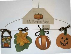 3-D Life Cycle of a pumpkin. FREE templates.