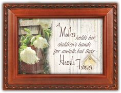 A Mother Holds Her Childrens Hands Music Box ** Click image for more details.
