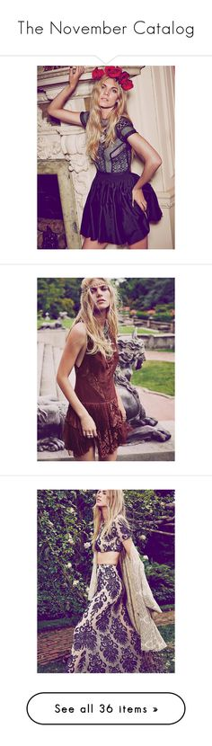 """""""The November Catalog"""" by freepeople ❤ liked on Polyvore featuring dresses, pink smocked dress, fit and flare mini dress, free people dresses, pink lace dress, pink smock dress, sexy evening dresses, sexy short dresses, evening cocktail dresses and evening dresses"""