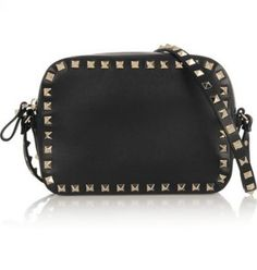 Valentino - The Rockstud leather shoulder bag - Valentino s  Rockstud  bags are…