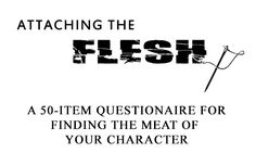 Complete these 50 questions to flesh out your character. Character background, appearance, outlook, and preferences are explored.