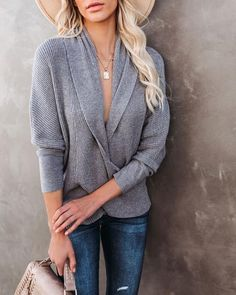 Tops – Page 20 – VICI Dress Bar, Love T Shirt, Chic Outfits, Heather Grey, Pullover, Treehouse, Clothes For Women, Knitting, My Style