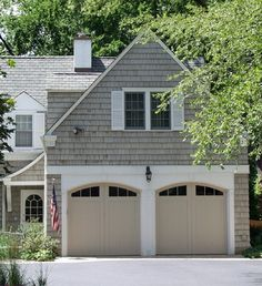 Color is Cabot 'Driftwood Gray' stain. Seneca - Traditional - Garage And Shed - Chicago - Brehm Architects