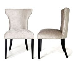 Torino Dining Chair with Back Ring - Black Velvet - Legs in Walnut ...