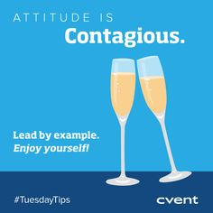 On Tuesdays we're sharing tips on everything from #marketing to relationship building to #event follow-up! Today's Tip >> Attitude is contagious. Yes, #eventplanning is stressful but once onsite your staff & attendees will play off your attitude. Stay positive and celebrate all of your #eventsuccess moments, big or small. If you found this tip helpful, share with your network! #TuesdayTips