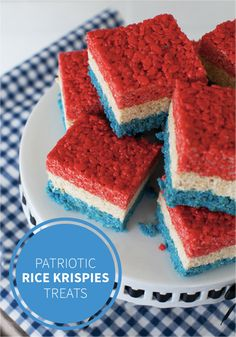 Let freedom ring with these red, white, and blue Rice Krispies Treats®! This tasty, patriotic treat is the perfect dessert recipe to share at your 4th of July party this summer.